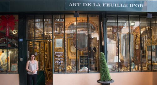 Vitrine Arts de la feuille d'or