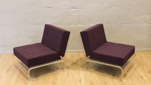 Paire de fauteuils Jacques Charpentier