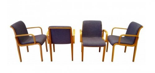 Bill Stephens, 4 chaises à accoudoirs – 1967