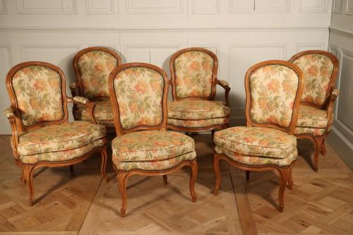 Mobilier de salon d'époque Louis XV estampillé Jean Avisse.