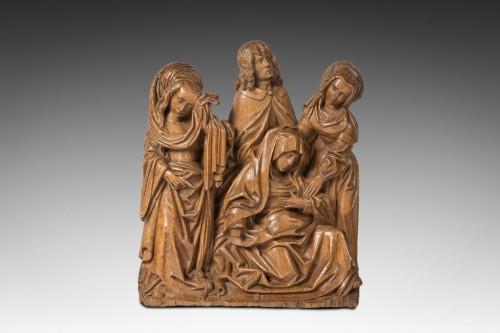 l'évanouissement de la vierge bois de tilleul époque début du XVI eme Siècle