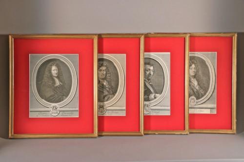 Estampes XVIIIe siècle, Corneille, Racine, Vouet et Lebrun