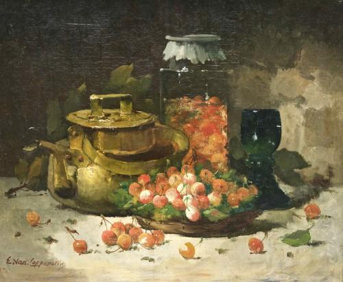 E. Van Coppenolle: Nature morte aux cerises.