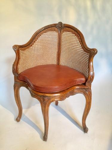Fauteuil de bureau d'époque Louis XV.