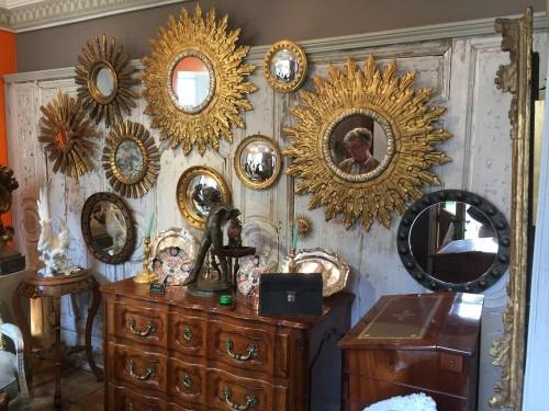Miroirs soleil d'époque XX ème siècle.