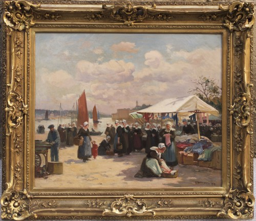 Henri Barnouin: Scène de marché