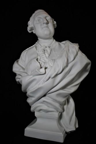 Buste de Louis XVI en biscuit