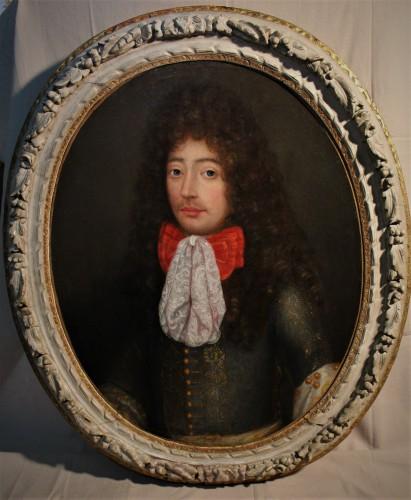 Portrait de gentilhomme d'époque Louis XIV