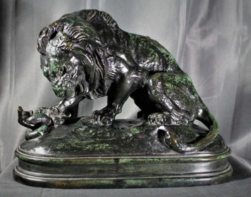Lion au serpent (n°1) signé BARYE