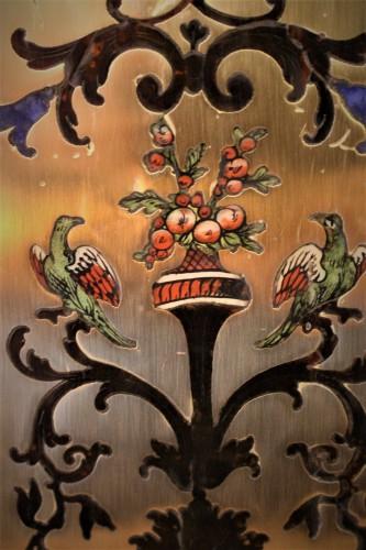 Cartel Louis XIV marqueterie Boulle dit aux cinq couleurs