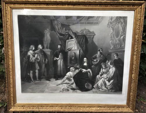 Paire de gravures eaux fortes Léonard de VINCI et Paul VERONESE
