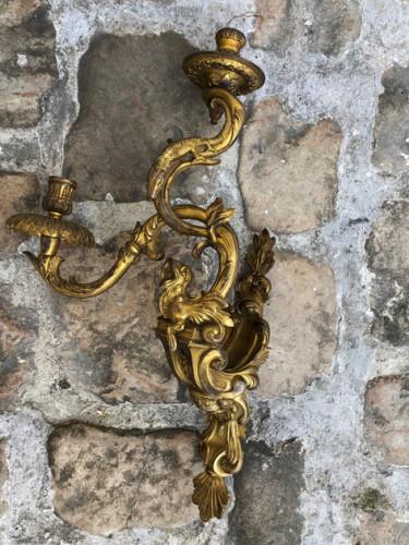Paire d'Appliques Régence «Aux Salamandres» d'après le modèle d'André Charles Boulle