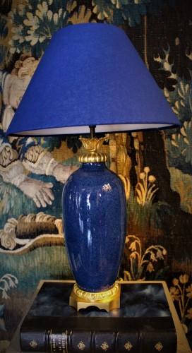 Lampe en bleu de Sèvres poudré