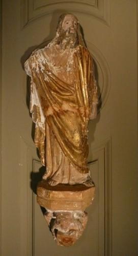 sculptures de 3 apôtres en terre cuite