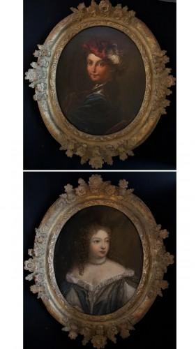 Portraits XVIIIème gentilhomme et dame de qualité