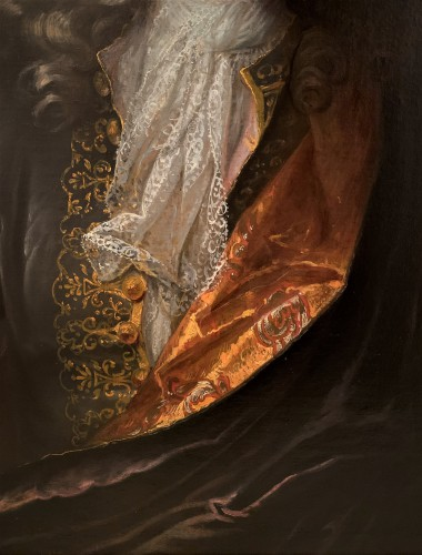 Portrait en buste d'un gentilhomme fin XVIIème