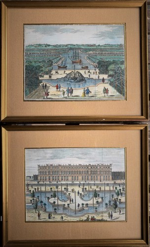 Vues d'optique Versailles XVIIIème