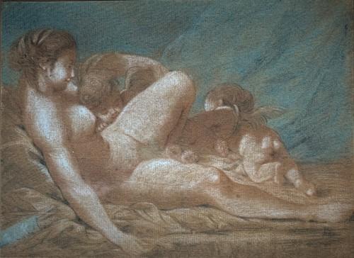 Dessin XVIIIème «Vénus et Amours»