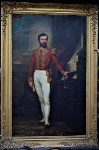 Grand portrait en pied d'un gentilhomme de la cour Prussienne