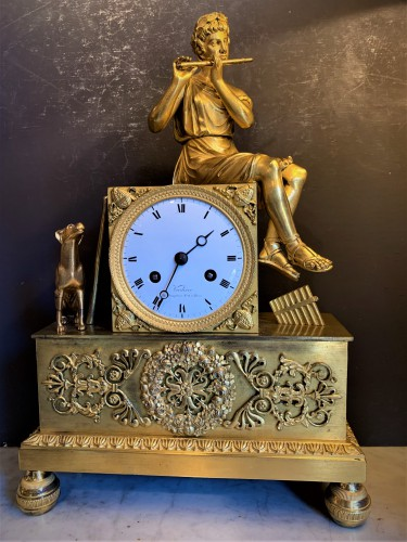 Pendule bronze doré Restauration