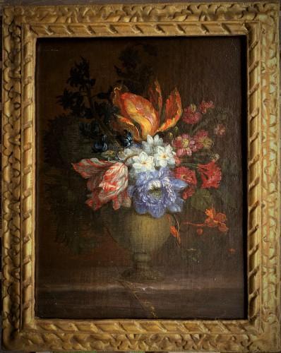 Ecole française XVIIIème bouquet de fleurs