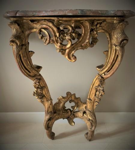 Petite console bois doré Louis XV