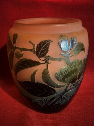 Vase pate de verre d'Argental