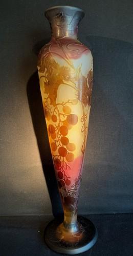 Grand vase balustre à col GALLE